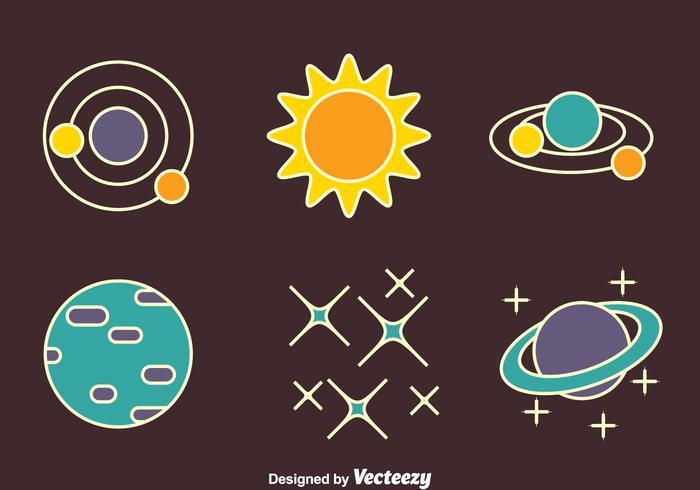 Trevlig Space Element vektorer