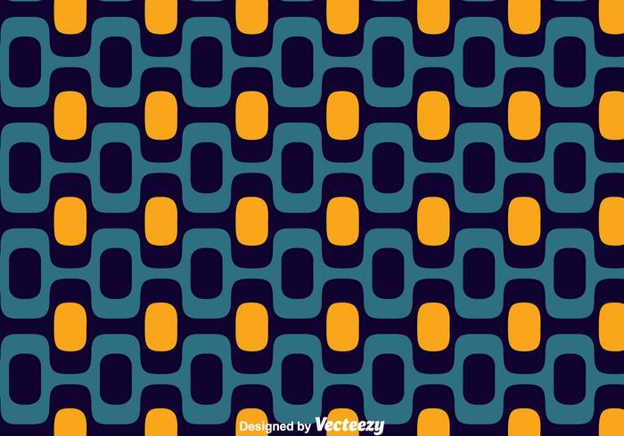 Blue And Orange Copacabana Seamless Pattern Vector