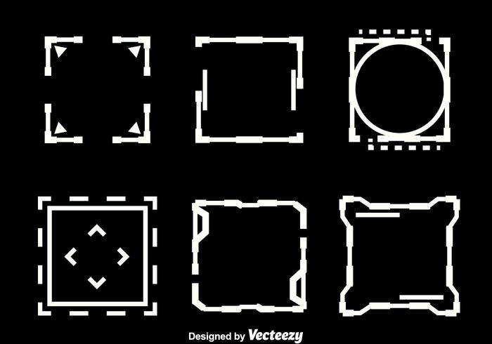 Square Hud Elemento Vectors