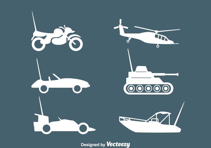Rc vehículos Silhouette Vectors
