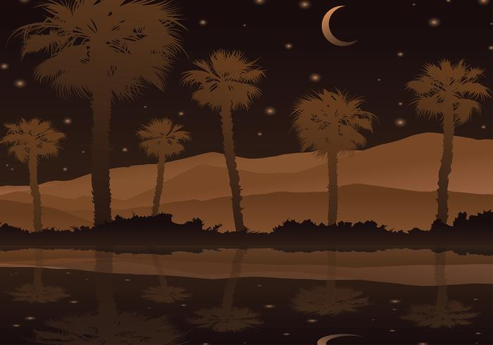 Palmetto Night Free Vector