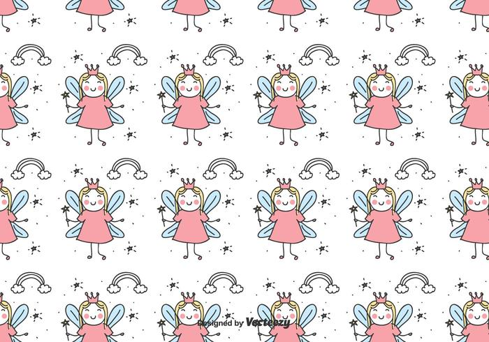 Doodle Fairy Pattern