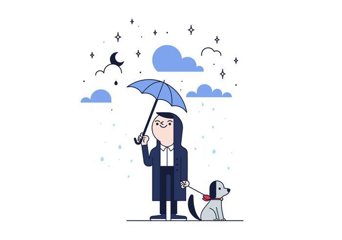 Gratis Rain Vector