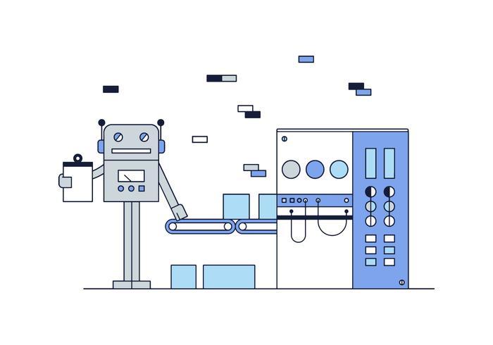 Vettore libero del lavoratore del robot