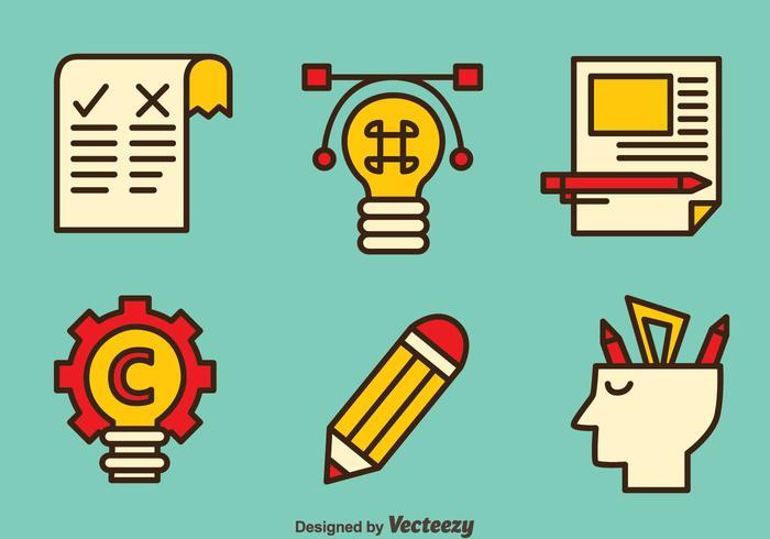Intellectuele Copyright Element Vectors