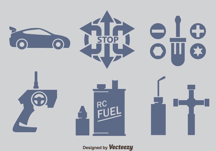 Rc Car Element Icons Vectors
