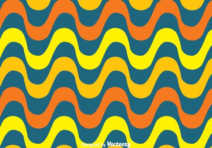 Naranja y amarillo Copacabana Wave vector patrón