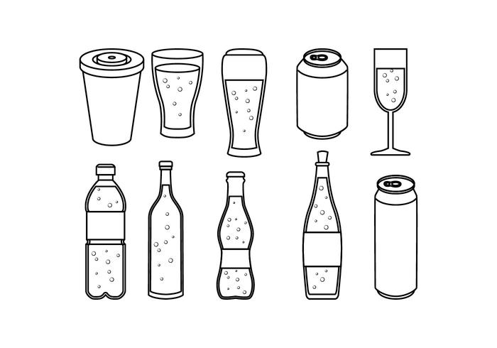 Free Soft Drink Line Icon Vector