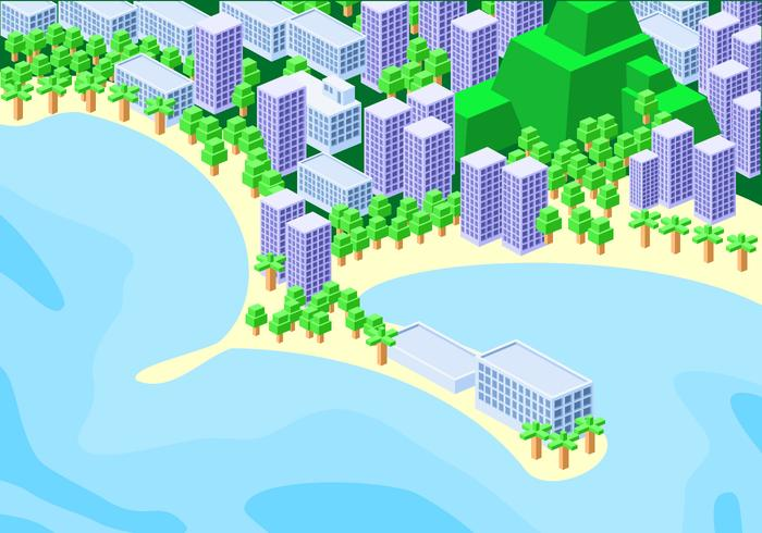 Isométrica Copacabana libres del vector