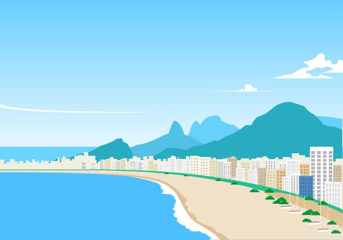 Landscape Of Copacabana Free Vector