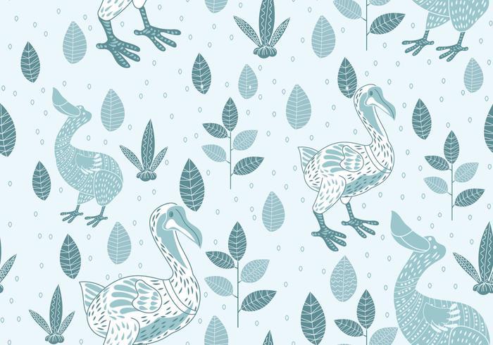 Sin patrón de Dodo Ilustración con estilo escandinavo