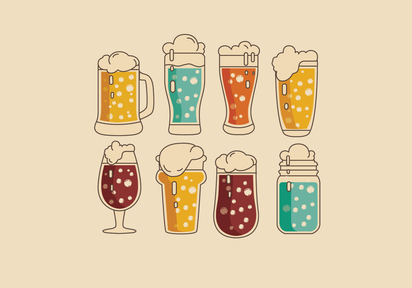 Fizzy Colorful Vector Drinks - Download Free Vectors ...