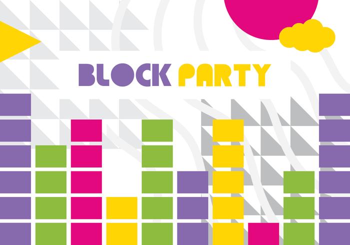 Block Party Wallpaper Vector