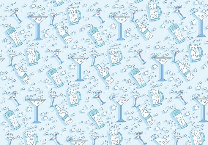 Pop fizz clink pattern vector