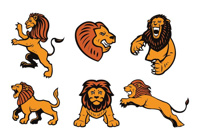 Free Lions logotyp Vector Set