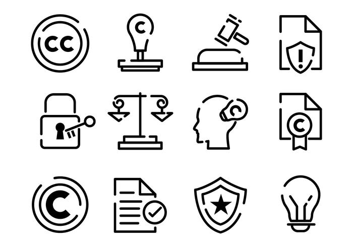 Gratis Copyright Icons Vector