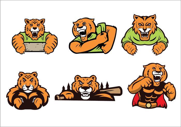 Vector libre de la mascota del tigre