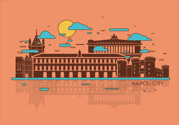 Napoli staden Vector