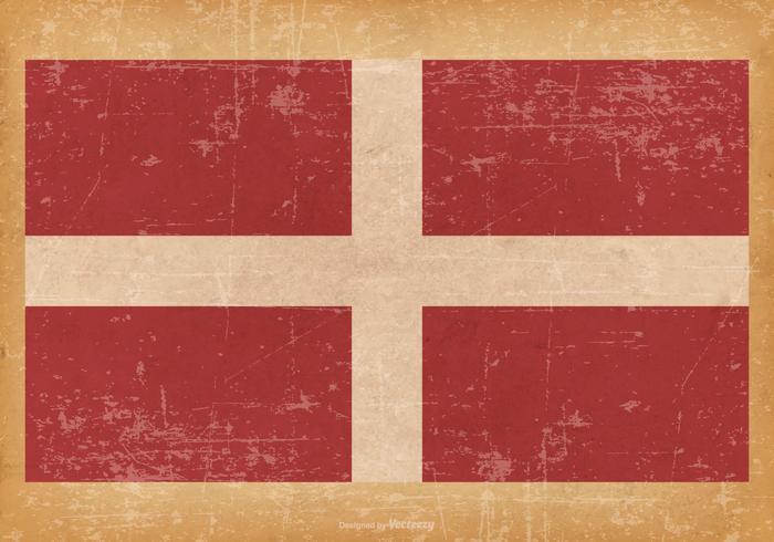 Bandiera del Sovrano Militare Ordine di Malta su sfondo Grunge