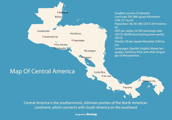 Gratis Central America Map Arte Vector 4782 Descargas Gratis