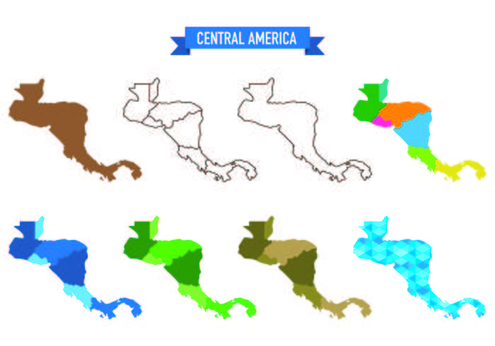 Central America Map Free Vector Art - (802 Free Downloads)