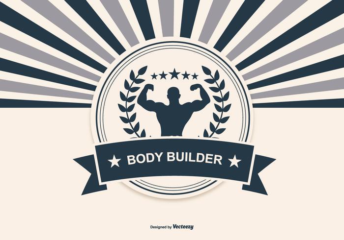 Retro illustrazione del body building vettore