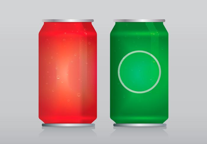 Soda Can Template With Water Vector Bubbles of Air