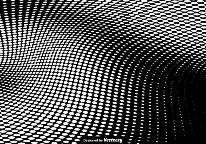 Witte Halftoon Vectorillustratie