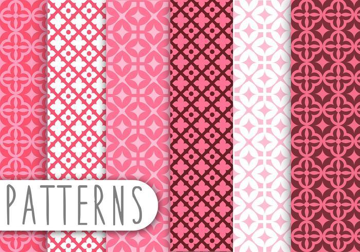 Pink Damask Decorative Pattern Set