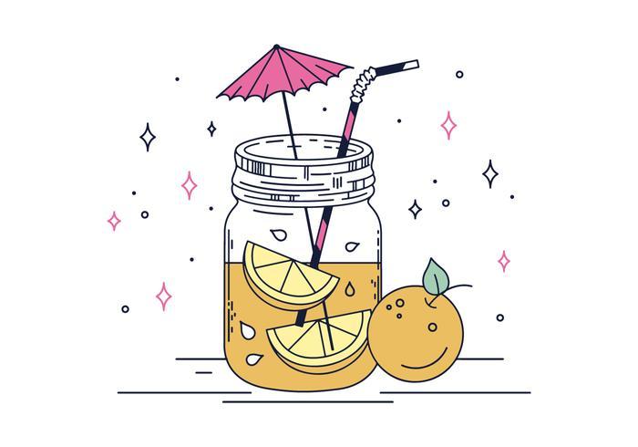 Vector libre tropical de la bebida