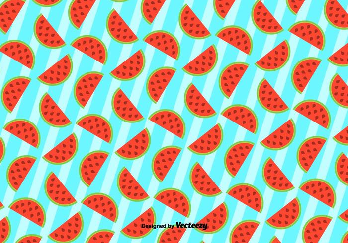 Cute Background Of Watermelon - Vector Pattern