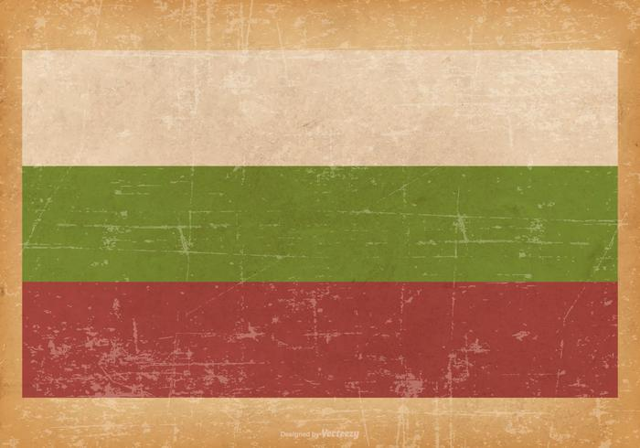 Flag of Bulgaria on Grunge Background