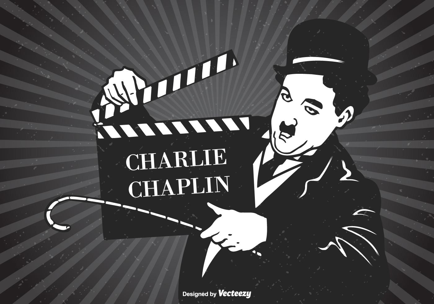 Charlie Chaplin Vector Retro Poster - Download Free Vector ...