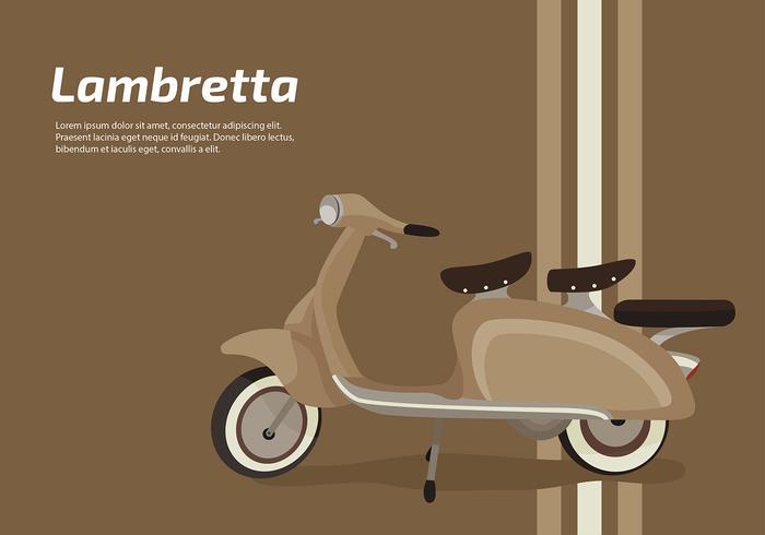 Lambretta Classic Scooter Vector Libre