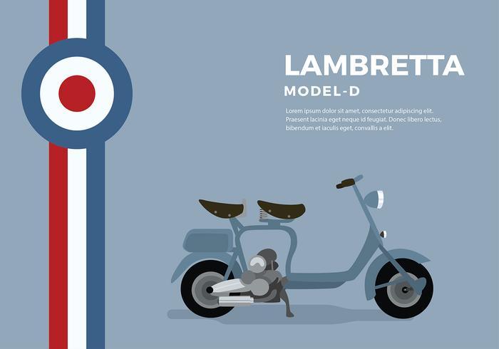 Lambretta Modell D Gratis Vector
