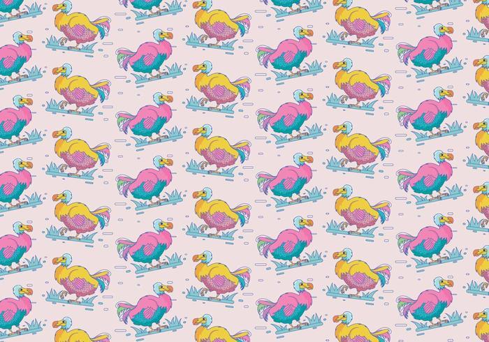 Cute dodo vector