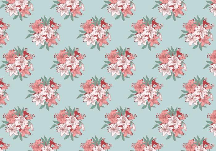 Rhododendron Classic Pattern Vector