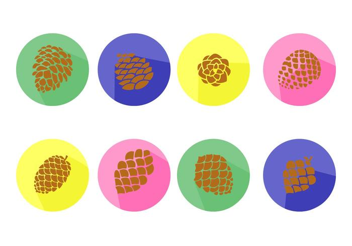 Free Pine Cones Icons Vector