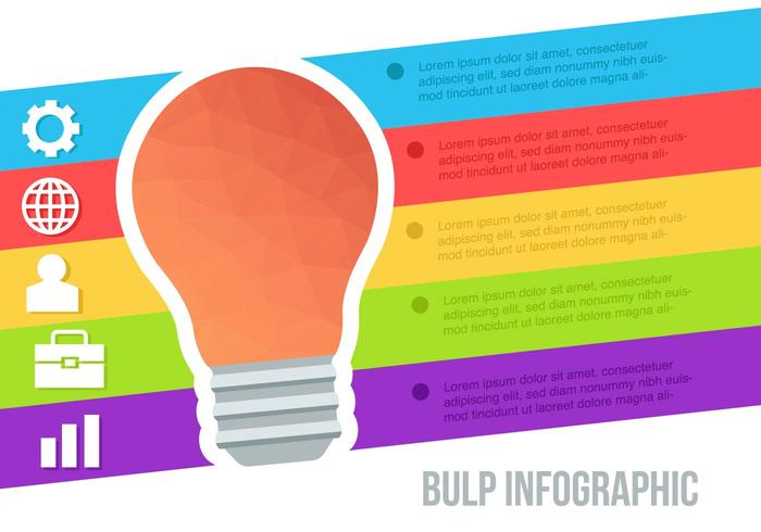 Free Low Poly Bulp Infographic Vector