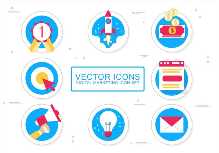 Free Vector Media Icon Design Set
