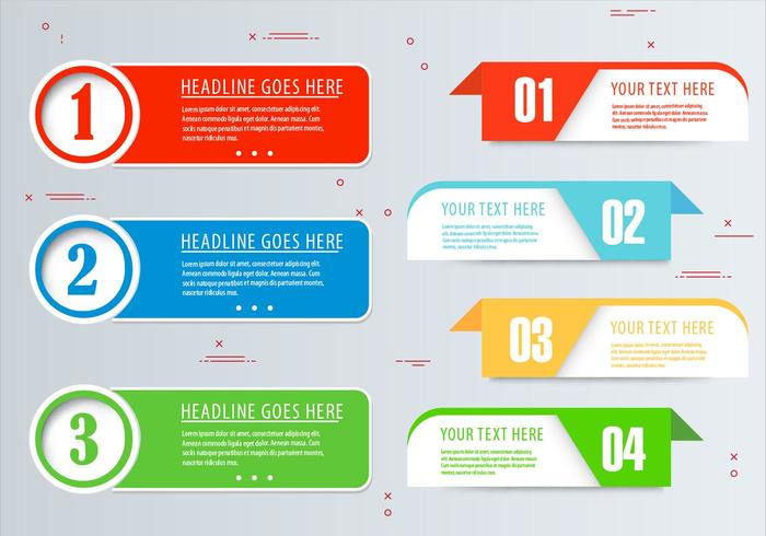 Vector Infographic Banner Set