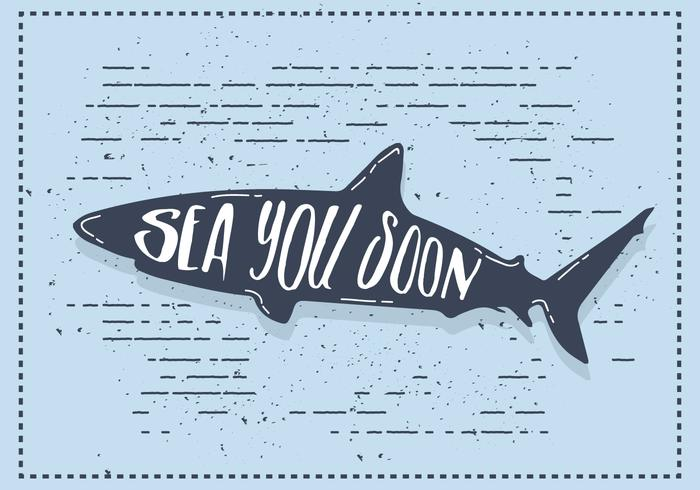 Free Vector Shark Silhouette Illustration With Typography