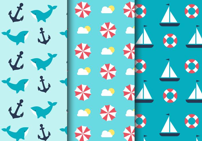 Free Sea Nautical Pattern vektor
