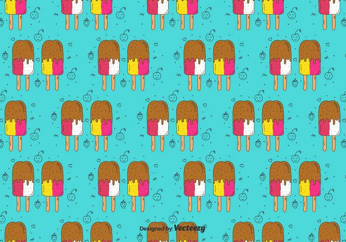 Popsicles Doodle Pattern vector
