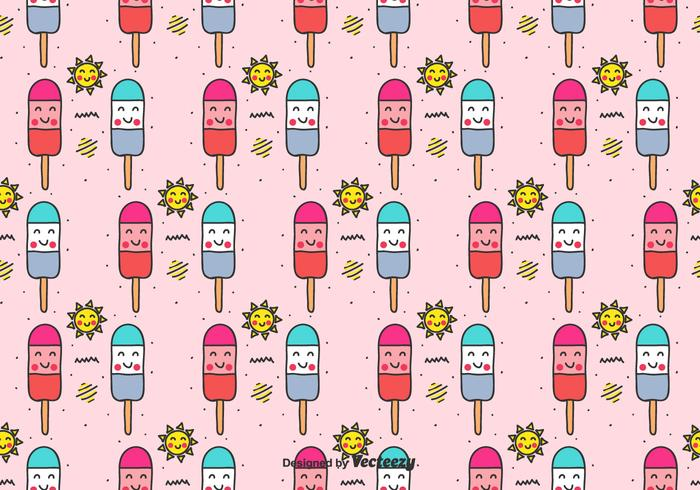 Popsicles Vector Pattern