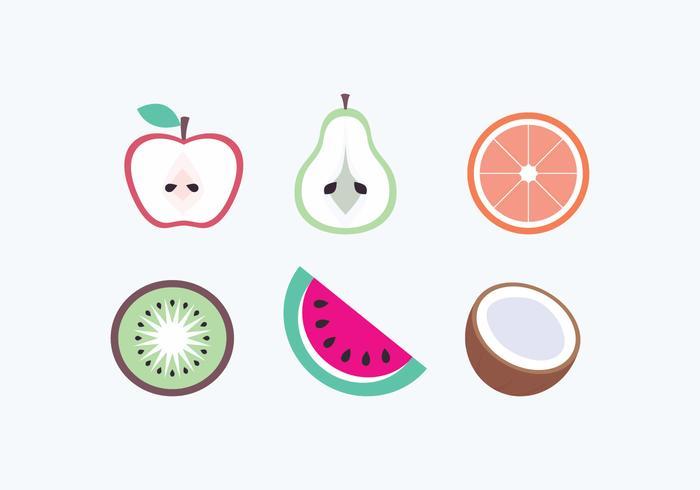 Iconos de las frutas del vector
