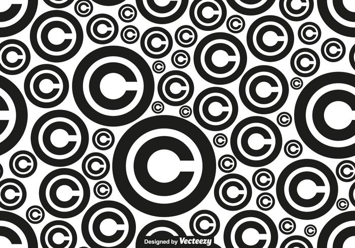 Vector Copyright Symbol Seamless Pattern