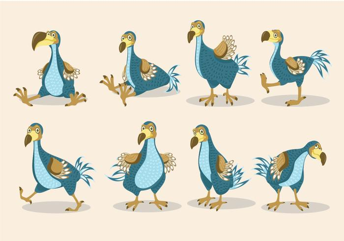 Dodo Vogel Illustration Cartoon Stil