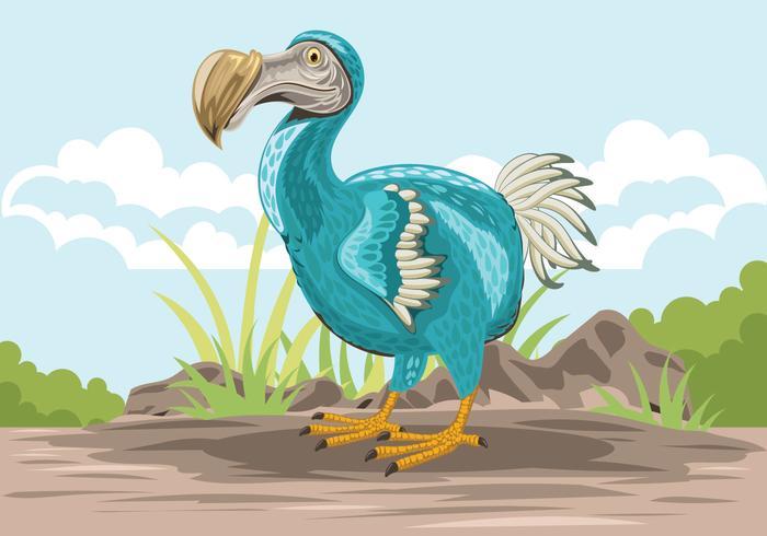 Leuke Dodo Vogel Illustratie