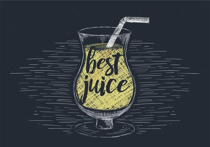 Free Hand Drawn Vector Juice Illustration